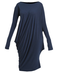 N'Joy Middle Length Asymetrical Dress Blue