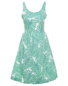 Nucleus Tea Garden Dress Green