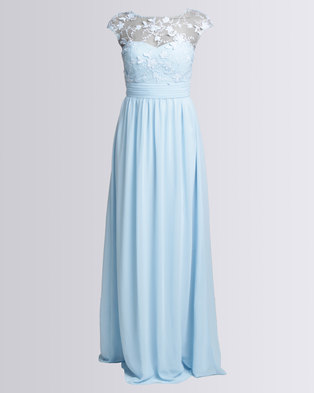 City Goddess London Chiffon Maxi Wedding Dress With Flower Detail ...