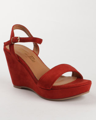 c8051db882a Image of Gino Paoli Ankle Strap Microfibre Wedges Rust
