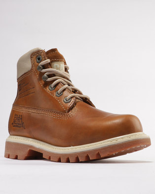 discount 2015 new Caterpillar Caterpillar Bruiser Leather Casual Boots Golden Brown sale shop for low price fee shipping cheap sale comfortable CPqRAN5oJ