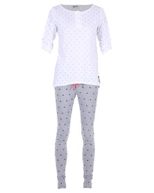 40 Winks Penguin PJ Set Multi