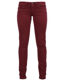 46664 Skinny Jeans Red