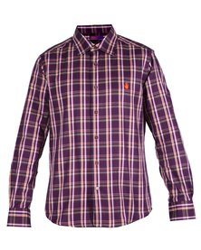 46664 Long Sleeve Check Shirt Purple