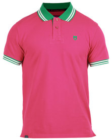 46664 Rugby Golfer Shirt Raspberry Red