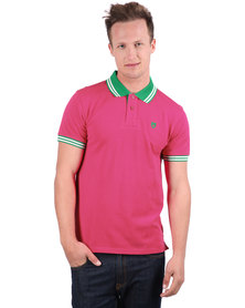 46664 Rugby Golfer Shirt Raspberry Red