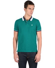 46664 Colourblock Golfer Shirt Teal
