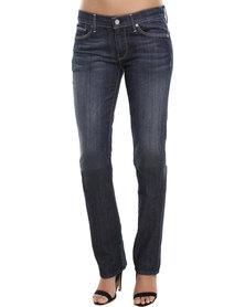 7 For All Mankind Straight Leg Jeans Blue