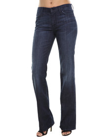 7 For All Mankind Mid Rise Bootcut Higher Waist Jeans Blue