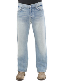 7 For All Mankind Standard Classic Straight Leg Light Stone Wash