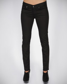 7 For All Mankind Roxanne Midnight Chicago Jeans Black