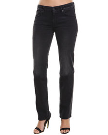 7 For All Mankind Kimmie Straight Leg with Swarovski Black