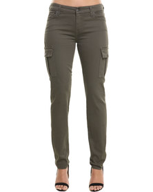 7 For All Mankind Pockets Stright Leg Olive