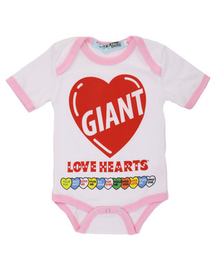 Image of Krag Drag Giant Lovehearts Bodysuit White