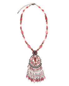 925 Jewellery Beaded Necklace Pink
