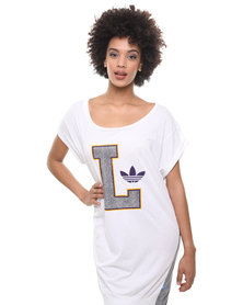adidas Lakers T Dress White