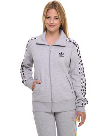 adidas Firebird Fleece Track Top Grey