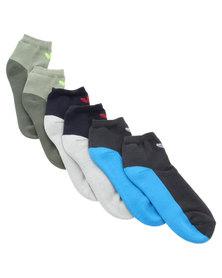 adidas Three Pack Ankle Socks Multi