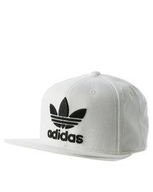 adidas Trefoil Flat Cap White/Black