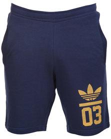 adidas 3 Foil Shorts Navy