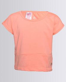 adidas YG W F Tee Orange