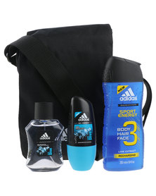 adidas Casual Bag with 3 Grooming Essentials