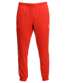adidas SST Cuffed Track Pants Red