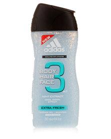 adidias Extra Fresh Body Hair & Face Shower Gel250ml