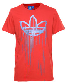 Adidas G Action Drips Tee Red