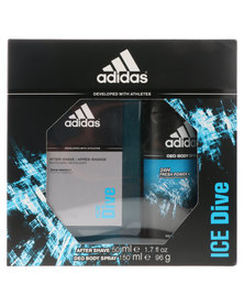 adidas Ice Dive 50ml Aftershave & 150ml Deodorant