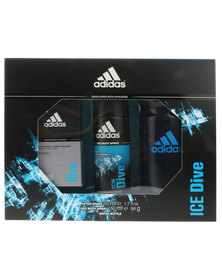 adidas Ice Dive 50ml Aftershave, Deo Body Spray & Waterbottle