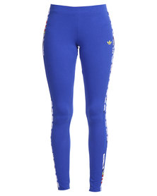 adidas Super Logo Leggings Blue
