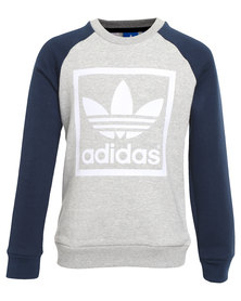 adidas J Fleece Crew Grey