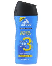 adidias Sport Energy Body Hair & Face Shower Gel 250ml