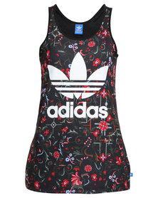 adidas Trefoil Tank Top All Over Print Multi-Coloured
