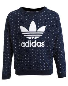 adidas J Denim Crew Sweatshirt Blue