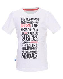 Adidas J Style Tee White