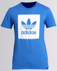 adidas Solid Blackbird T-Shirt Blue/White