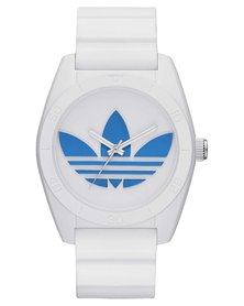 adidas Originals Santiago Resin Strap Watch White and Blue