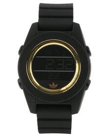adidas Originals Calgary Silicone Strap Watch Black/Gold
