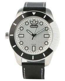 adidas Originals Adi 1969 Leather Strap Watch Black