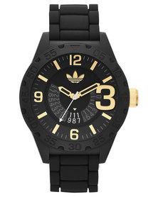 adidas Originals Newburgh Resin Strap Watch Black/Yellow