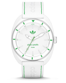 adidas Originals Stan Smith Leather Strap Watch White