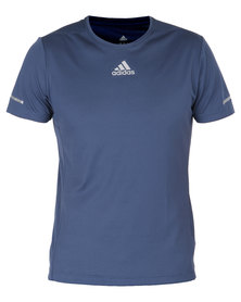 adidas Performance Sequentials Climacool Run Short Sleeve Tee Blue