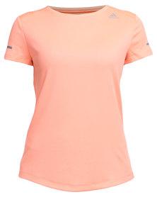 adidas Performance Sequentials Climalite Short Sleeve Tee Orange