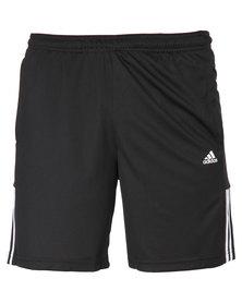adidas Performance Base 3 Stripes Knitted Shorts Black