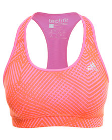 Adidas Performance TechFit Bra Glob Pink