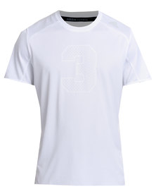 adidas Performance Response Graphic Shortsleeve White