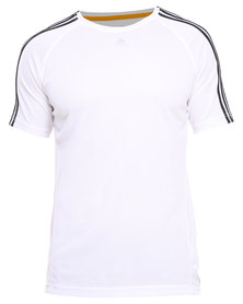 adidas Performance CL E3S Tee White