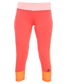 Adidas Performance Studio Power Tights Orange